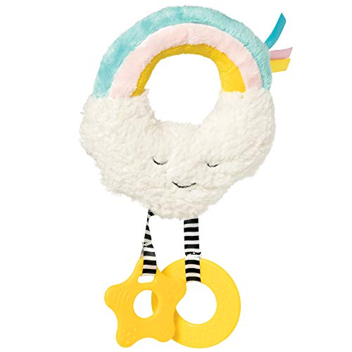 Find Bargain Manhattan Toy Cherry Blossom Days Cloud Baby Circle Rattle with Crinkle Paper and Teeth...