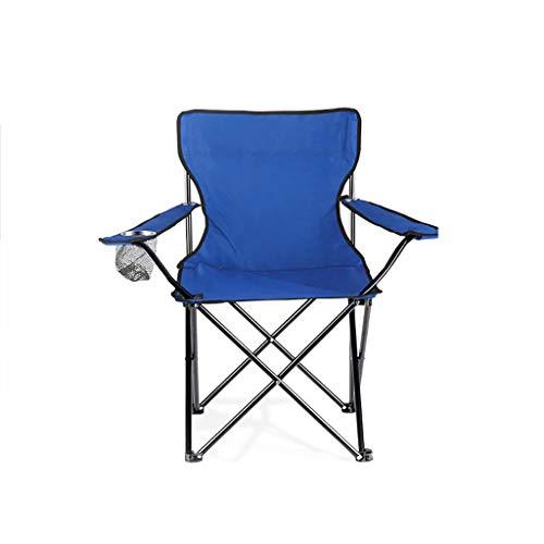 FH Chaise De Pêche Pliable, Main Courante Multifonctionnelle Portable Pique-Nique Grill Chaise Pliante Auto-Conduite Chaise Longue De Jardin De Jardin, Bleu