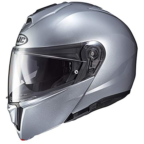 HJC Unisex-Adult Flip-Up i90 Modular Helmet (Silver, 5X)