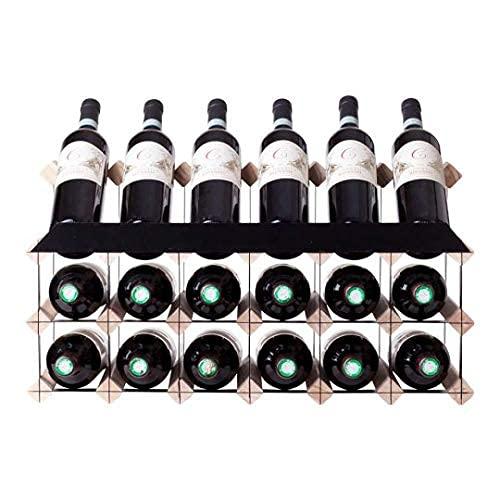 Wijnrek Wijnrek voor 18 flessen met displayplank - Wijnopslag in wijnrekken van grenenhout - Geschikt voor flesformaten tot 750 ml