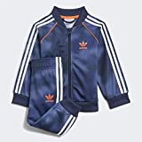 adidas GN4112 SST Set Tracksuit Baby-Boys Top:Crew Blue/Multicolor/App Solar Red Bottom:Crew Blue s21/multicolor/app Solar Red 3-4A