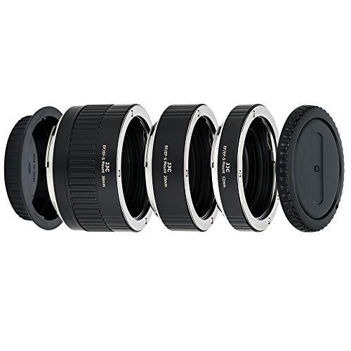 JJC Metall Autofokus-Zwischenringe (AF) mit TTL-Belichtung für Makrofotographie 12mm, 20mm und 36mm (Passen für Canon EOS EF/EF-S Mount Kameras)