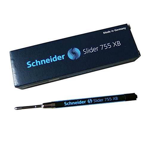シュナイダー SCHNEIDER ボールペン 替え芯 スライダー SLIDER リフィル 文字サイズ:XB 1箱 10本セット 755 XB (PARKER パーカー URBAN アーバン/IM アイエム シリーズ 対応) (ブラック (175501-1b