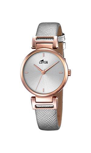 Lotus 18229/1 - Reloj de Mujer (Cuarzo, analógico, Correa de Cuero), Color Gris