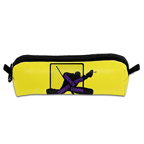 Pengyong Federmäppchen für Hockey Goalie Training Student Federmäppchen mit Reißverschluss, kleine Kosmetiktasche Make-up-Tasche Münzbörse für Kinder, Jugendliche und andere Schulbedarf