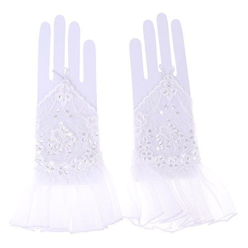 FLAMEER Masquerade Ball Frauen Spitzenhandschuhen Party Fingerlose Handschuhe für Abschlussball Halloween Christmas Carnival Party Fancy Dress