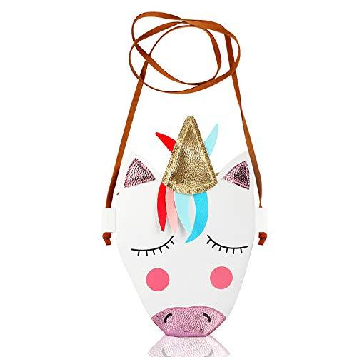 Unicorn PU Leather Crossbody Bag Small Purse Shoulder Bag for Little Girls Unicorn Handbag