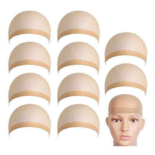 Aibada 14 medias de malla para peluca, gorro de malla para el pelo, peluca para dama