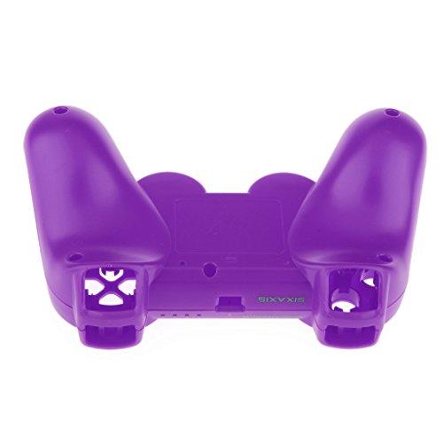 Coque Housse de Protection Logement Pièce Complet Cas Remplacement Kit Pour Sony PS3 Manette - Violet