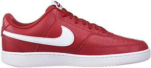 Nike Men's Court Vision Low Sneaker, Gym Red/White, 11 Regular US