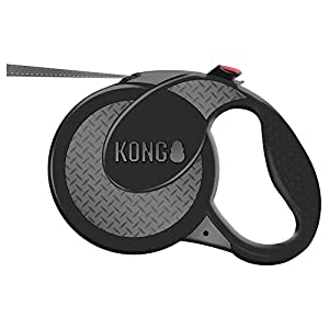 KONG Ultimate Retractable Dog Leash, Extra Large, Grey, 5m Tape