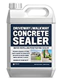 Driveway And Walkway Concrete Sealer - Repels Water, Prevents Cracks, And Fights De-Icing Salts - 1...