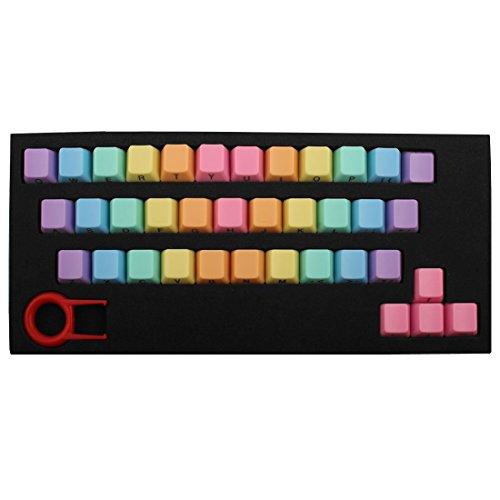 Keycap PBT 37 KeyCaps Extractor de teclado con letra lateral, extractor de teclado para juego Teclado mecánico PC de escritorio