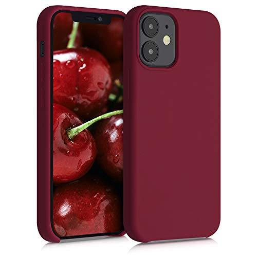 kwmobile Custodia Compatibile con Apple iPhone 12 Mini - Cover in Silicone TPU - Back Case per Smartphone - Protezione Gommata Rosso rabarbaro