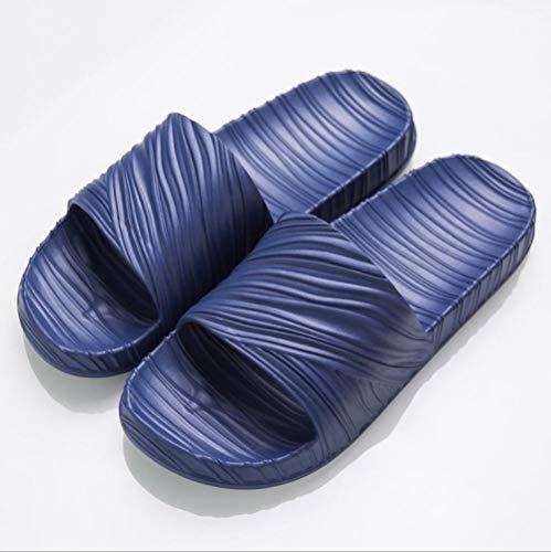 KIKIGO Zapatillas Piscina Mujer,Zapatillas de casa Antideslizantes, Sandalias cómodas de Suela Blanda para el hogar de Verano.-Azul Oscuro_EU 40