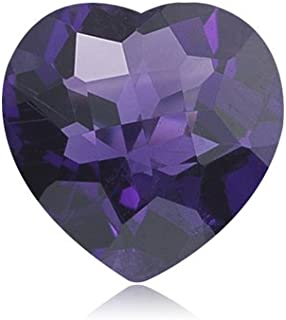 Mysticdrop 2.70-3.20 Cts of 10 mm AAA Heart Checkered Board (1 pc) Loose African Amethyst