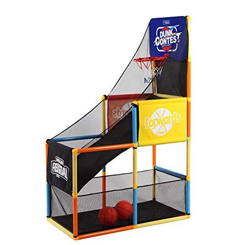 HFRTKLSAW Juego de aro de Baloncesto para niños, máquina de Tiro Multifuncional, Juguetes interactivos Familiares para Interiores y Exteriores, Regalos para niños