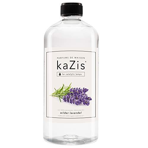KAZIS® I Wilder Lavendel I Raumduft Für Alle Katalytischen Lampen I Essenz I Parfums De Maison I Nachfüll-Öl (Refill) I 1000 ml I 1 Liter