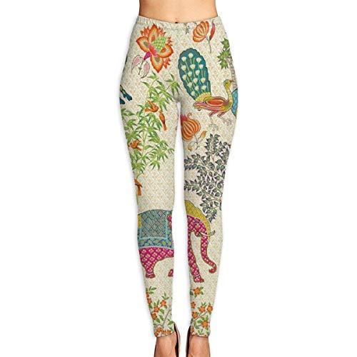 ANTOUZHE Pantalones de Yoga,Pantalones de Mujer Le Jardin De Mysore Gym Yoga Pants High Waist Tummy Control Workout Pants for Women Running Fitness Yoga Leggings Autumn Trousers
