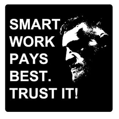 1art1 Citations Poster-Sticker Autocollant - Smart Work Pays Best. Trust It!, Conor McGregor (9 x 9 cm)