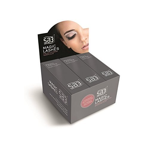 Sa3 Magic Lashes Wimpern- und Augenbrauenwachstumsflüssigkeit, 6er Pack (6 x 24 ml)
