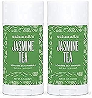 Schmidt's Natural Deodorant - Jasmine Tea 3.25 Oz Sensitive Skin Stick; Aluminum-Free Odor Protection & Wetness Relief (3....