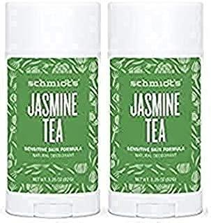 Schmidt's Natural Deodorant - Jasmine Tea 3.25 Oz Sensitive Skin Stick; Aluminum-Free Odor Protection & Wetness Relief (3.25 oz)