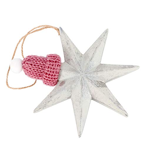 NUOBESTY Rustic Barn Star Christmas Tree Ornaments, Star Hanging Ornaments, Wooden Stars Festive Embellishments