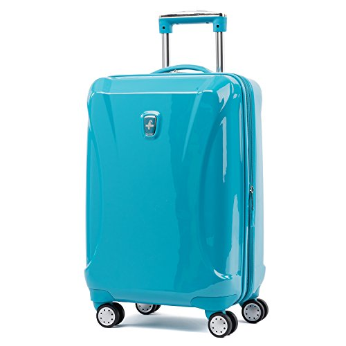 Atlantic Luggage Atlantic Ultra Lite Hardsides Carry-on Spinner, turquoise blue
