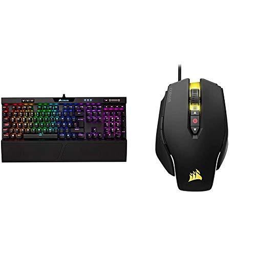 Corsair K70 RGB MK.2 Mechanische Gaming Tastatur (Cherry MX Brown: Taktil und Leise, Qwertz DE Layout) schwarz & M65 PRO RGB Optisch Gaming Maus (RGB-LED-Hintergrundbeleuchtung, 12000 DPI) schwarz