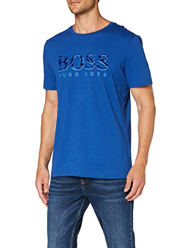 BOSS tee 11 Camisa, Azul Abierto (493), M para Hombre