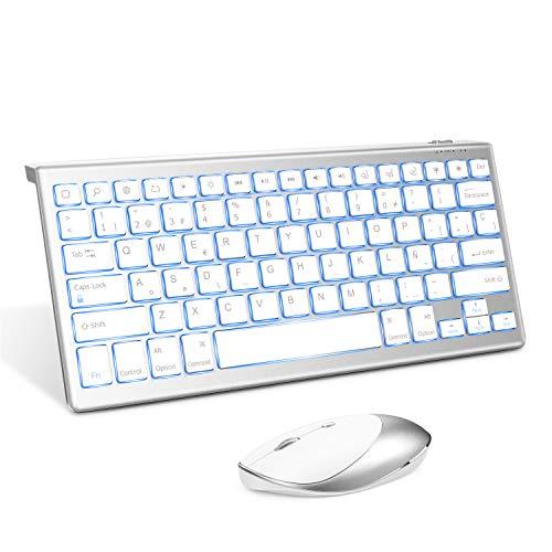 Jelly Comb Teclado y Ratón Inalámbrico para iPad, Bluetooth Teclado...