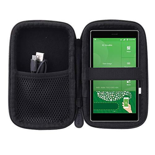 Aenllosi Reise Hart Taschen Hülle für GlocalMe G4 4G WLAN Router Hotspot (Schwarz)