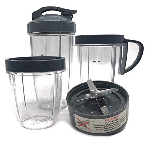 Fauge NutriBullet - Juego de vasos y cuchillas para batidora de alta velocidad para piezas de repuesto y accesorios