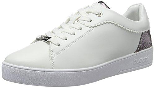 bugatti Damen J7608PR6N Sneakers, Weiß (Weiss/Silber 207), 38 EU
