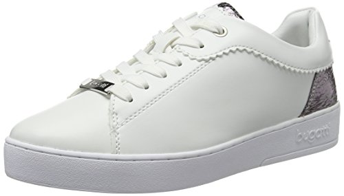 bugatti Damen J7608PR6N Sneaker, (Weiss/Silber 207), 40 EU