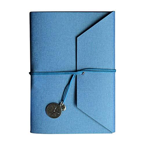 S-TROUBLE Manual de Diario de Cuero PU para Mujeres con Diario de Cuaderno Personal con encuadernación de Cuero sintético de Papel Rayado Recargable A5