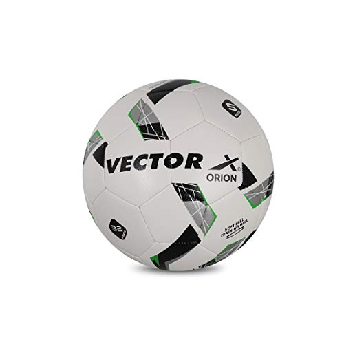 Vector X Orion TPU Machine Stitched Football (Size-5) (White-Green)