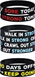AMPM Collective | Silicone Motivational Wristbands | Rubber Inspirational Quote Bracelets | Unisex for Men...