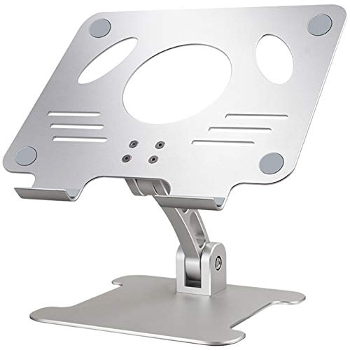 Soporte Portátil Ajustable, Ergonómico Laptop Stand,Soporte Ordenador Portatil Ventilado Plegable de Aluminio para MacBook Air Pro,iPad, Pouce PC, Notebook, 10-17 Pulgadas,Plata