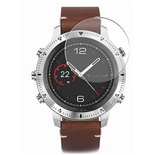 Vaxson Protector de Pantalla de Cristal Templado, compatible con GARMIN Fenix Chronos Smart Watch, 3 Unidades 9H Film Screen Protector