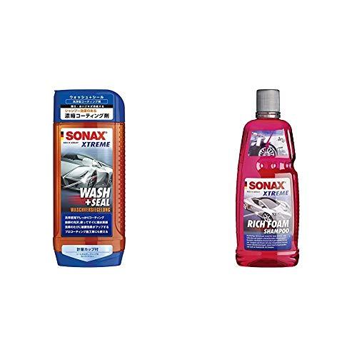 SONAX Xtreme Wash+Seal (500 ml) gründliche Reinigung und effektive Versiegelung & Xtreme RichFoam Shampoo (1 Liter) Schaum-Shampoo/Snow Foam Shampoo erzeugt dichten, langhaftenden Schaumteppich
