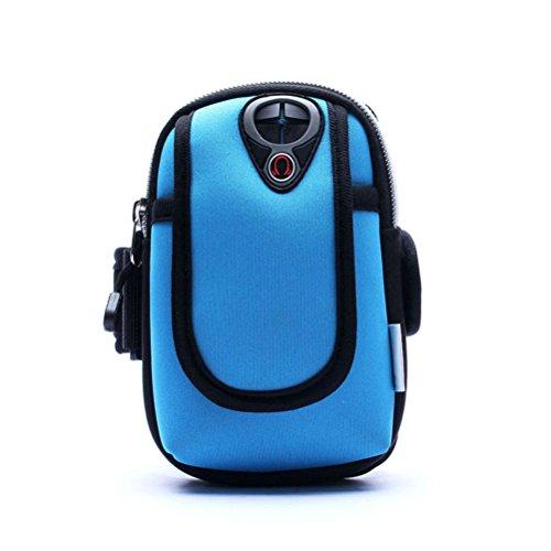 WINOMO Sac Brassard Sport Fonctionnement Téléphone Pochette (Bleu Ciel)
