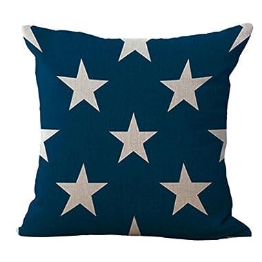 Goddessvan National Flag Print Throw Pillow Cases Cafe Sofa Home Decor Cushion Cover 45cm45cm (C)