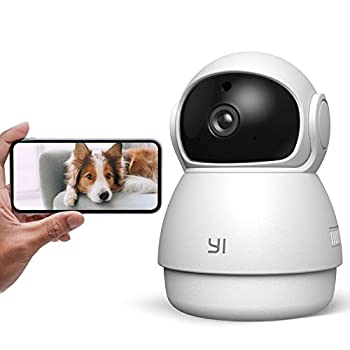 YI Pet Camera Dog Camera with Phone App Pet Dog Cat Puppy Cam Monitor Two Way Audio and Video Pan/Tilt/Zoom WiFi Night Vision Sound Motion Detection Wireless Compatible with Alexa and Google