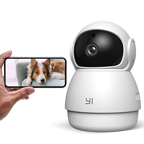 YI Pet Camera Dog Camera with Phone App Pet Dog Cat Puppy Cam Monitor Two Way Audio and Video, Pan/Tilt/Zoom, WiFi, Night Vision, Sound Motion Detection, Wireless, Compatible with Alexa and Google