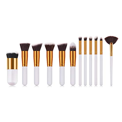 Lot de 12 pinceaux de maquillage professionnels