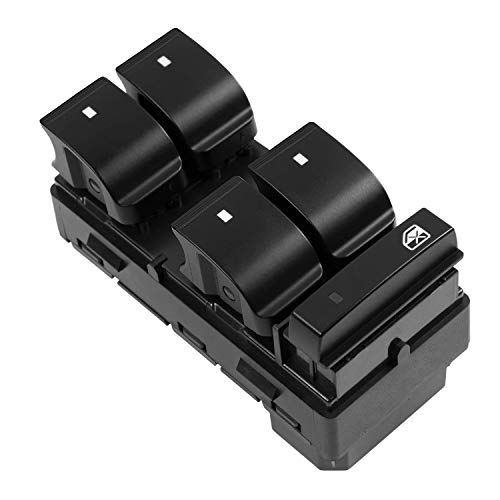 Driver Side Power Window Master Control Switch 20945129 D1954F 25789692 25951963 Compatible with 2007-2014 Chevy Silverado GMC Sierra 1500 2500 3500, 2008-2011 Chevy HHR, 2009-2017 Chevy Traverse