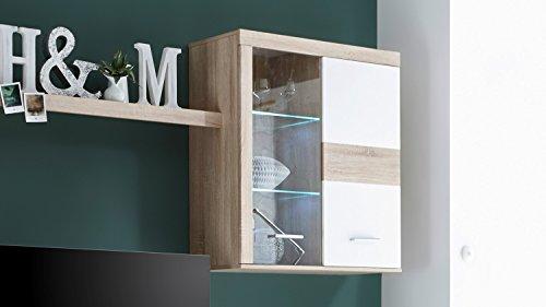 Wohnwand – Moderne Anbauwand in weiß Bild 2*