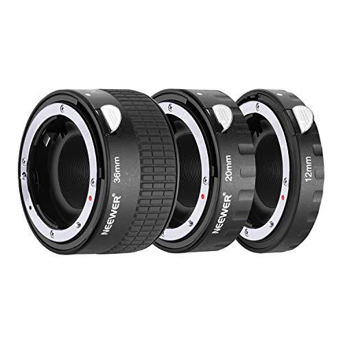Neewer Metall Autofokus AF-Makro-Verlängerungsrohr-Set 12mm, 20mm, 36mm für Nikon AF-, AF-S-Objektiv-DSLR-Kameras